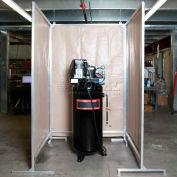 Goff's Stock 4 Sided Sound Control Screen, 5'W, 5'W, 5'W & 5'W x 8'H