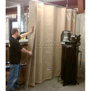 """Goff's Stock Sounder Curtain 31975 with Hardware - 14'10""""W x 8'H - Beige"""