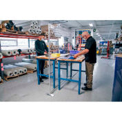 """Global Industrial™ Floor Supported Personal Safety Workbench Partition 24""""W x 60""""H - Clear"""