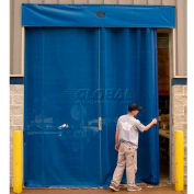 Goff's Bug Blocking Manual Side Seal Door, 10'W x 10'H, Blue