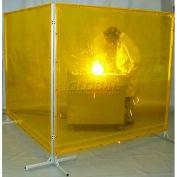 Goff's Welding Screen, 6'W x 6'H, Yellow