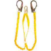 Guardian 11203, 6' Internal Double Leg Shock Lanyard Steel Rebar Hook