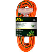 GoGreen Power, 14/3 50' 3-Outlet Heavy Duty Extension Cord, GG-15150, Lighted End