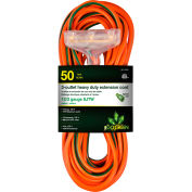 GoGreen Power, 12/3 50' 3-Outlet Heavy Duty Extension Cord, GG-15250, Lighted End