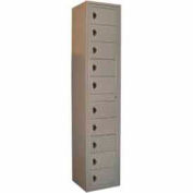George O'Day Folded Garment Lcker LL10CCO-GO 10 Compartment Combo Lock 16-1/2 x 16-1/4 x 77-1/2 Gray