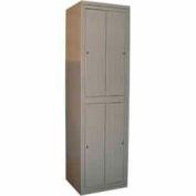 George O'Day Hang Garment Locker LL422C-GO Big 4 Compart Cam Lock 24-5/16x21-1/4x84-1/2 Gray