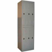 George O'Day Hanging Garment Locker LL6CCO-GOSV Std 6 Compt. Combo Lock 24-5/16x21-1/4x84-1/2 Silver