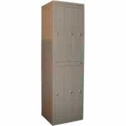 George O'Day Hang Garment Locker LL6CKL-GOSV Std 6 Compart. Knob Lock 24-5/16x21-1/4x84-1/2 Silver