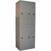 George O'Day Hang Garment Locker LL6WCCO-GO Super 6 Compart. Combo Lock 31x21-1/4x84-1/2 Gray