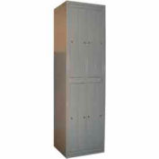 George O'Day Hanging Garment Locker LL8C-GOSV Std 8 Compart. Cam Lock 24-5/16x21-1/4x84-1/2 Silver