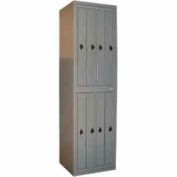 George O'Day Hang Garment Locker LL8CCO-GO Std 8 Compart Combo Lock 24-5/16x21-1/4x84-1/2 Gray