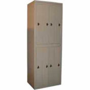George O'Day Hanging Garment Locker LL8WCCO-GO Big 8 Compart. Combo Lock 31x21-1/4x84-1/2 Gray