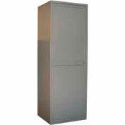 George O'Day Linen Storage Unit Locker LLEWLSU-GO - Gray 31 x 21-1/4 x 84-1/2