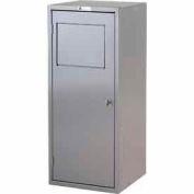 George O'Day Mini Soil Locker LLMINI-GO - Gray 16-1/2 x 16-1/4 x 39-1/2