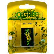 Power By GoGreen 21005 9V Super Heavy Duty Battery  - Pkg Qty 20
