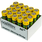 Power By GoGreen 21020 AA Super Heavy Duty Battery  - Pkg Qty 40