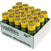 Power By GoGreen 21020 AA Super Heavy Duty Battery  - Pkg Qty 40