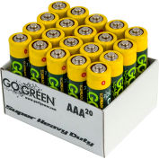 Power By GoGreen 21021 AAA Super Heavy Duty Battery  - Pkg Qty 40