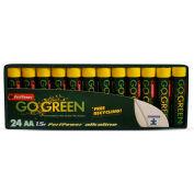 Power By GoGreen 24011 AA Alkaline Battery  - Pkg Qty 24