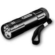Power By GoGreen GG-113-09BK 9-LED Flashlight Black - Pkg Qty 6