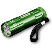 Power By GoGreen GG-113-09DG 9-LED Flashlight Dark Green - Pkg Qty 6