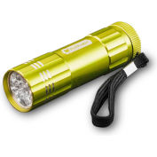 Power By GoGreen GG-113-09LG 9-LED Flashlight Lime Green - Pkg Qty 6