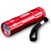 Power By GoGreen GG-113-09RD 9-LED Flashlight Red - Pkg Qty 6