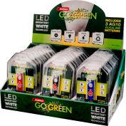 Power By GoGreen GG-113-D30K 1-LED Keychain Flashlight (30 Piece Display)
