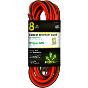 GoGreen Power 16/3 SJTW 8ft Heavy Duty Extension Cord, GG-13708 - Lighted End