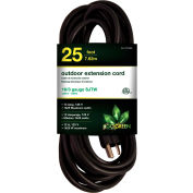 GoGreen Power, GG-13725BK, 25 Ft. 16/3 Heavy Duty Extension Cord - Black