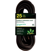 GoGreen Power, GG-13825BK, 25 Ft Extension Cord - Black