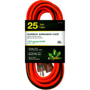 GoGreen Power, GG-14025, 25 Ft Extension Cord - Orange/Green