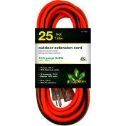 GoGreen Power, GG-14025, 25 Ft Extension Cord - Orange/Green