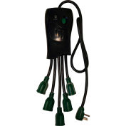 GoGreen Power, GG-5OCT, 5 Outlet Surge Protector - 3 Ft Cord - Black