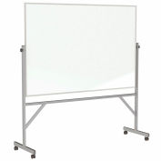 Ghent® Mobile Reversible Magnetic Porcelain Whiteboard - Aluminum Frame - 4' x 8'