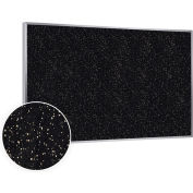 """Ghent® Recycled Rubber Bulletin Board, Aluminum Trim, 144-1/2""""W x 48-1/2""""H, Tan Speckled"""
