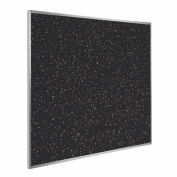"""Ghent® Recycled Rubber Bulletin Board, Aluminum Trim, 48-1/2""""W x 48-1/2""""H, Tan Speckled"""