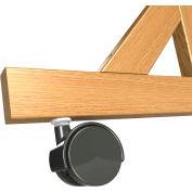 Ghent® Casters for Wood Frame Reversible Unit, 4/Set