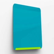 "Ghent Link Portable/Wall Mount Steel Whiteboard, 24"" x 18"", Lime Green Base/Blue Face"