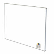 """Ghent® Nexus Wall-Mounted Porcelain Magnetic Whiteboard Silver Frame, 72""""W x 48""""H"""