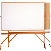 "Ghent® Reversible Acrylite Marker/Natural Corkboard, 78""W x 73-1/2""H"