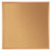 "Ghent® Natural Cork Bulletin Board, Wood Frame, 48-1/2""W x 48-1/2""H"