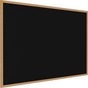 """Ghent® Recycled Rubber Bulletin Board, Oak Trim, 96-5/8""""W x 48-5/8""""H, Black"""
