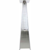 Dyna-Glo Pyramid Flame Patio Heater DGPH302SS Propane 42000 BTU Stainless Steel