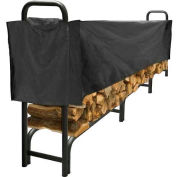 Pleasant Hearth 12' Log Storage Rack Half Cover - Weathered-Resistant Polyester LC6-12SC