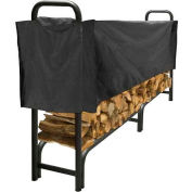 Pleasant Hearth 8' Heavy Duty Log Storage Rack with Half Cover Weather-Resistant LS938-96SC