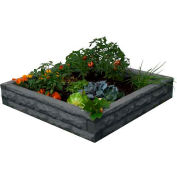 "Good Idea Garden Wizard Raised Bed Garden, 50""L x 50""W x 10-1/2""H, GW-RBG-DAR"