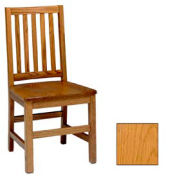 "Mission Chair, Vertical Slats 17-5/6""W X 19""D X 37""H, Provincial Finish"