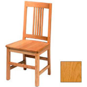 "Mission Chair, Narrow Vertical Slats 17-5/6""W X 19""D X 37""H, Provincial Finish"
