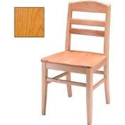 "Solid Oak Chair 18-7/8""W X 17-1/8""D X 34-1/2""H, Provincial Finish"